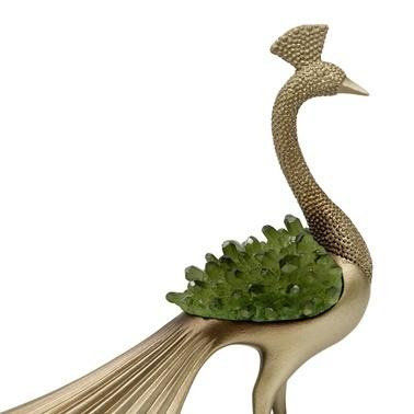 Vitale Dragon Dekoratif Tavuskuşu Biblo Renkli